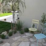 הקמת איזור ישיבה בגינה